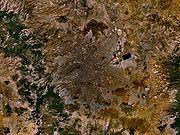 Satellitenaufnahme von Mexiko-Stadt