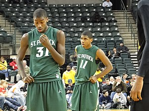 Kyrie Irving - Irving behind high school teammate and current Charlotte Hornets forward Michael Kidd-Gilchrist