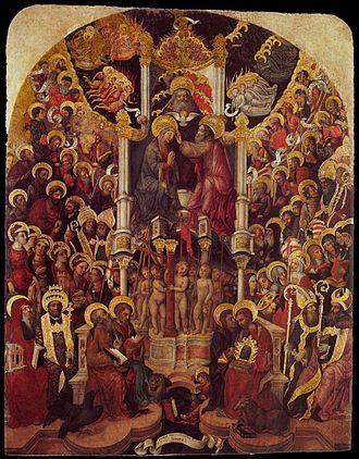 Michele Giambono - Image: Michele Giambono Coronation of the Virgin WGA8943