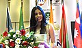 Michelle Dilhara addressing the gathering at the South Asian Youth Summit 2018.jpg