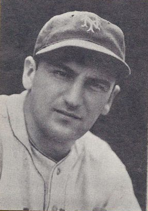 Mickey Haslin - Haslin as a member of the New York Giants, circa 1937–38