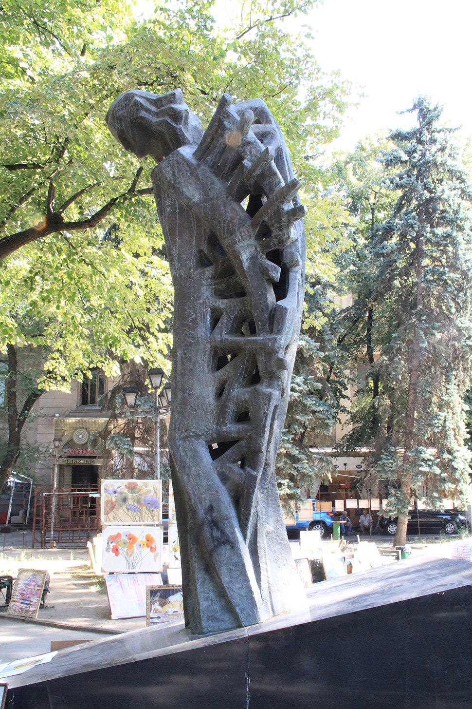 Mihai Eminescu, monument in Chisinau, Rep. of Moldova