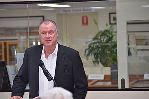 Mike Carlton - Mike Carlton at a book signing in 2013