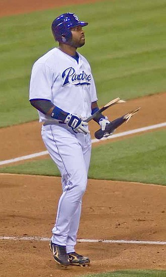 2007 San Diego Padres season - Milton Bradley on August 28, after striking out and deliberately breaking his bat.