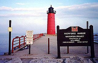 Milwaukee Pierhead Light lighthouse in Wisconsin, United States