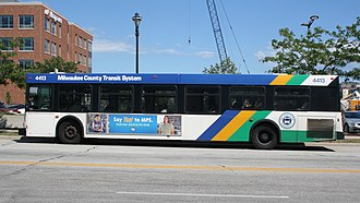 Milwaukee County Transit System - MCTS bus 4413, a 2001 New Flyer D40LF