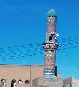 Minaret of the Mosque of Manoura Khatoun.jpg