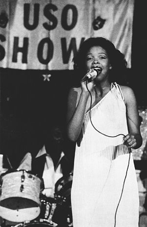 Miss Black America - Claire Ford, 1977 Miss Black America, during a USO show, 1978.