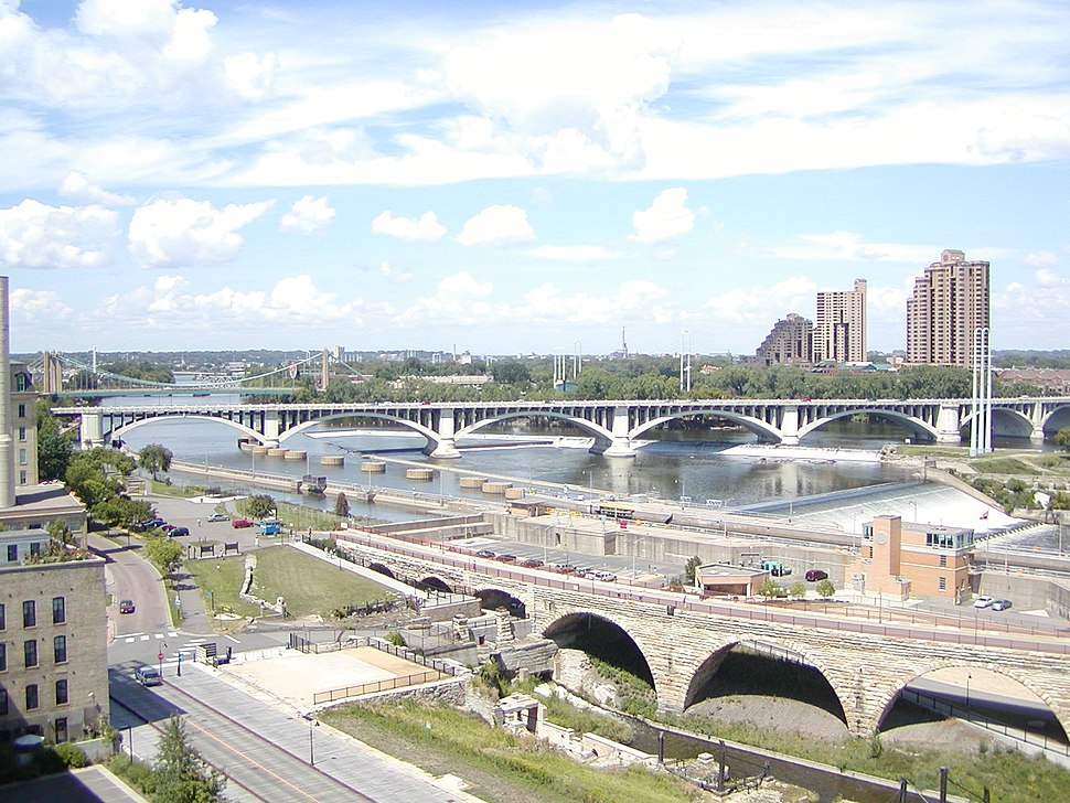Mississippi River from the Guthrie Theater
