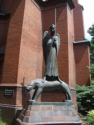 Gethsemane Church - The Geistkämpfer (spiritual fighter) by Ernst Barlach.
