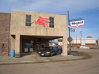Nebraska Outback - Mobil station in Lynch.