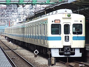 Odakyu Electric Railway - Odakyu 5000 series EMU near Mukōgaoka-Yūen Station