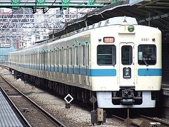 Odakyu Electric Railway - Odakyu 5000 series EMU near Mukōgaoka-Yūen Station