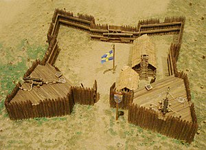 Fort Christina - Model of Fort Christina at the American Swedish Historical Museum in Philadelphia