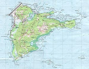 Weno - Map of Weno Island