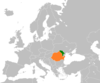 Location map for Moldova and Romania.