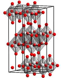 Kristallstruktur von Molybdän(VI)-oxid