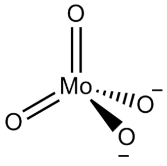 Molybdate - Structure of molybdate