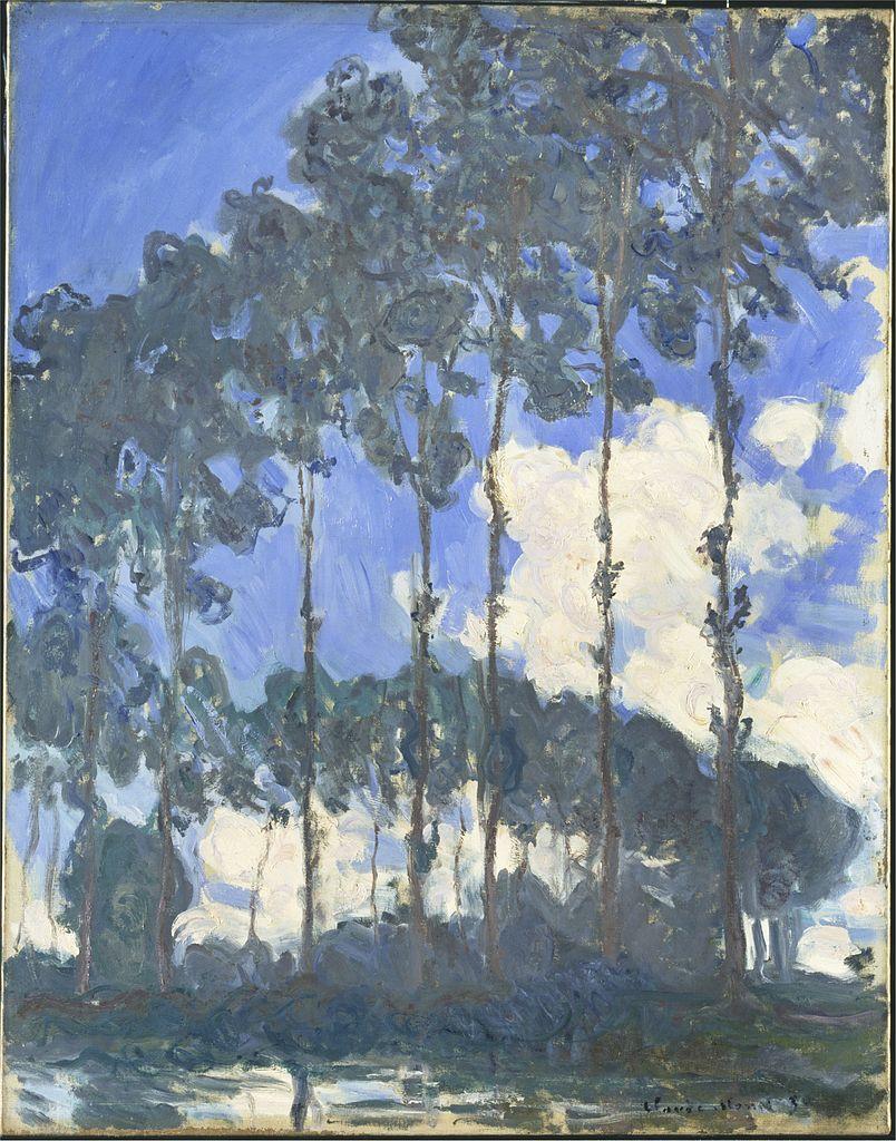 Peupliers sur la rivière Epte de Monet (1890) à La Tate Modern à Londres.
