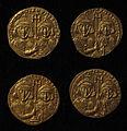 Monete d'oro di giustiniano II e tiberio IV, 705-711, 02.JPG