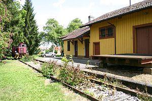 Monheim, Bavaria - The old railway station
