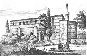 Kefeli Mosque - The mosque in a drawing of 1877.