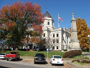 Monroe County Courthouse (Indiana) - Southern front of the courthouse