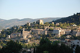 General view of Montbrun-les-Bains