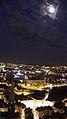 Moon over Basilique Saint-Nicolas and Place Royale, Nantes.JPG
