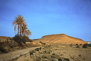 Tataouine Governorate - Moonlit landscape of Tataouine