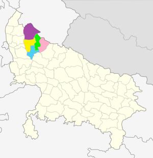Moradabad division - Image: Moradabad division