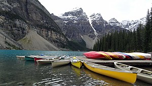 Moraine Lake - Canoe docks