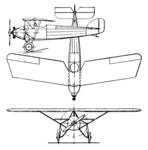 Morane Saulnier MS.180 3-view Aero Digest December 1929.png