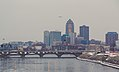 Morning Skyline - Des Moines, Iowa - Winter on the Des Moines River (24805016620).jpg