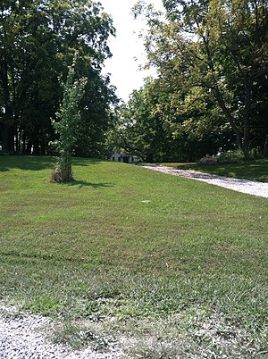 Moses U. Payne House - The driveway and distant house viewed from Roby Farm Road