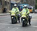 Motorcycle police in Gorgie Road, Edinburgh.jpg