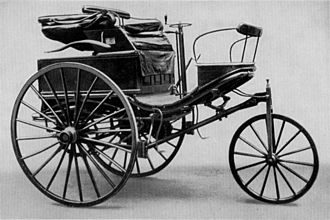 Road trip - The Benz Patent-Motorwagen Number 3 of 1888, used by Bertha Benz for the highly publicized first long distance road trip by automobile (of over 106 km / 60 miles)