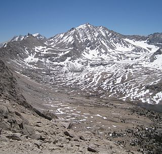 Mount Tyndall mountain in California