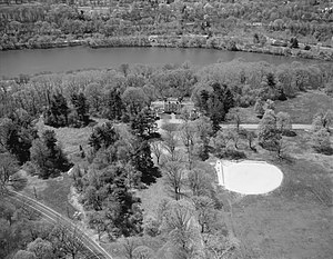 Mount Pleasant (mansion) - Image: Mt P aerial HABS 206299pu