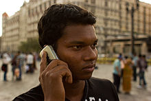 Mumbai Guy on phone November 2011 -2-5.jpg