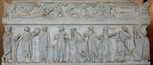 9 Muses sarcophagus Louvre MR880