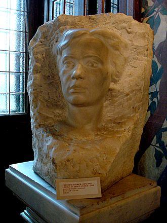 "Cecilia Cuțescu-Storck - Portrait sculpture of her husband, Frederic. (1909) From the ""Frederic and Cecilia Cuțescu-Storck Art Museum"""