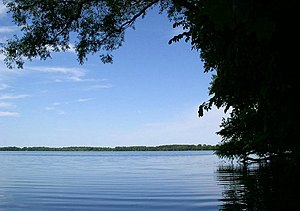 English: Albert Lea Lake from Myre-Big Island ...