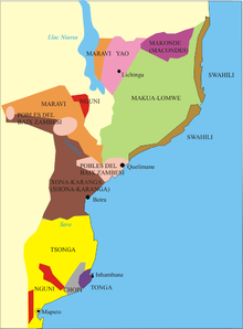 Mozambique wikipedia ethnic map of mozambique sciox Choice Image