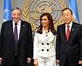 Néstor Kirchner, Cristina Fernández y Ban Ki-moon G77.jpg