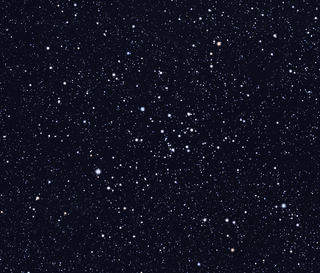NGC 2527 open cluster in the constellation Puppis