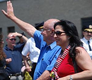 Diane Savino - Diane Savino at the 2009 Memorial Day Parade, Staten Island. With Savino is Borough President James Molinaro.