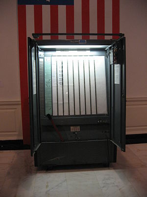 A voting machine on display, Museum of the Cit...