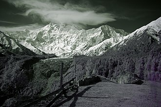 Fairy Meadows - Image: Nanga Parbat from Fairy Meadows (7275734156)