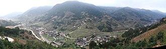 Yongding District, Longyan - Image: Nanxi panoramic DSCF3790 DSCF3794